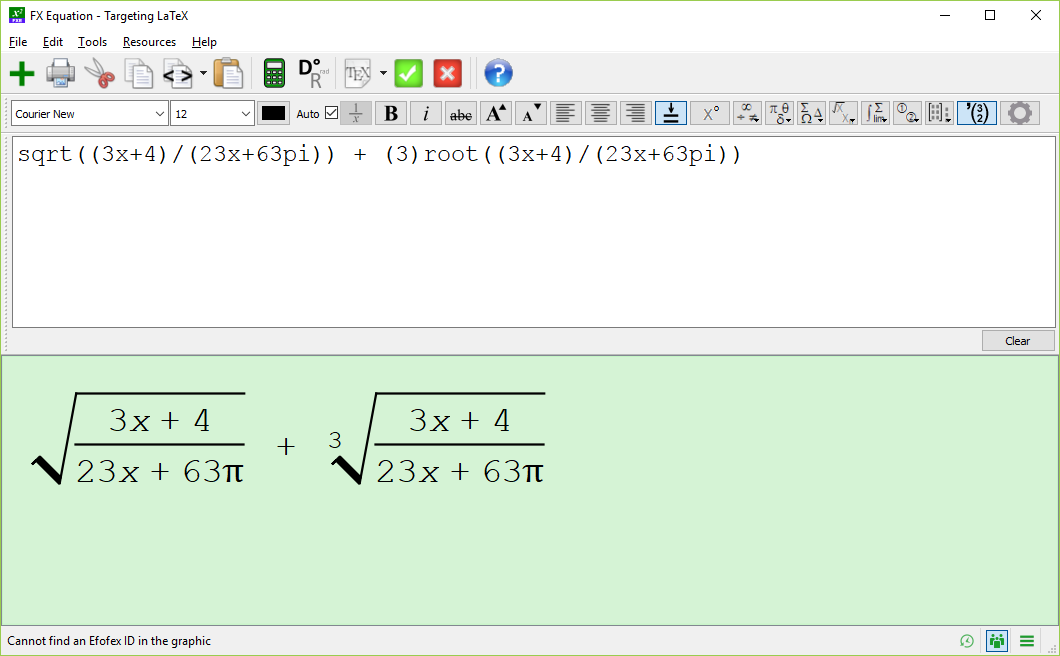 Simple equation in FX Equation