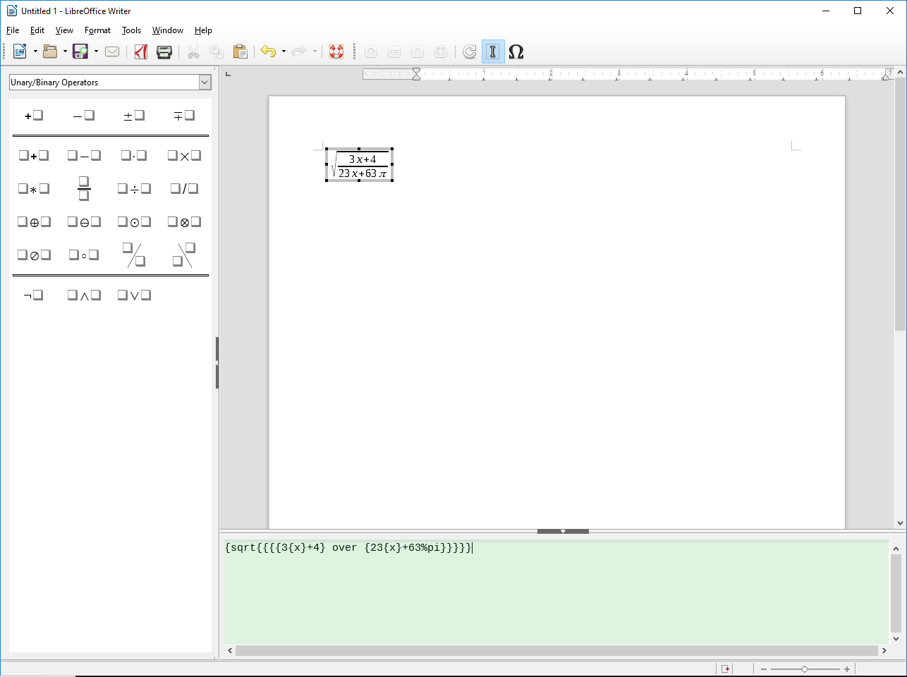 Past into LibreOffice Formula