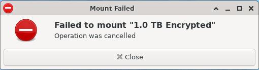 Mount Failure Notice Xfce